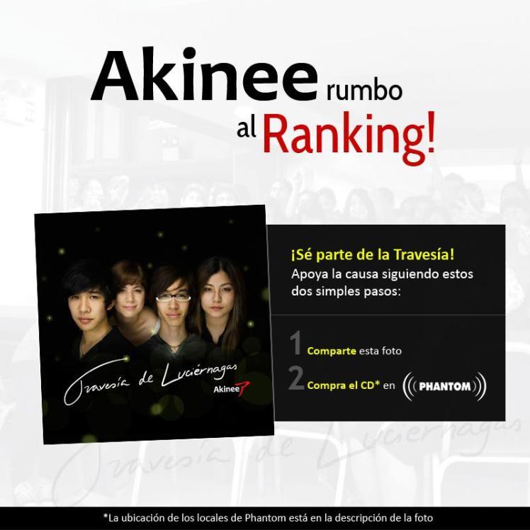 Akinee rumbo al ranking